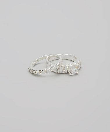Silver Sparkle Bar Ring Set #zulily #zulilyfinds