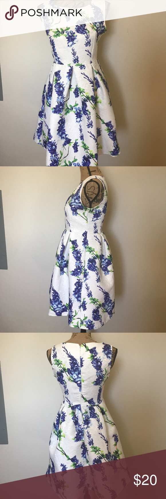 Euc minty gogo floral dress white floral dress floral and minis euc minty gogo floral dress izmirmasajfo Image collections