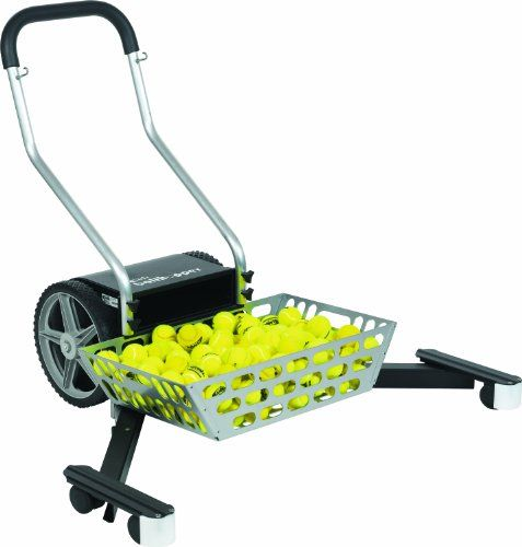 Gamma Sports Automatic Tennis Ball Mower - Ultimate Portable Ballhopper, Professional Court Machine, 350 Balls Capacity, Removable Basket & Foldable Sweeping Arms, Lightweight Design ** You can find more details by visiting the image link.