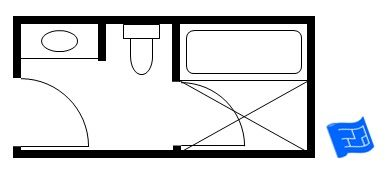 Japanese Style Small Bathroom Floor Plan Including A Bath And Shower 12ft X 6ft The