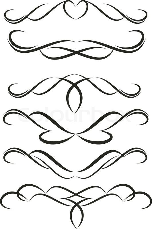 stock vector of filigree border page cakepins com kitchen pinterest rh pinterest com
