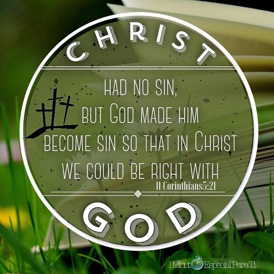 2 Corintios 5:21 | Versículos Bíblicos | Pinterest | Versículos ...