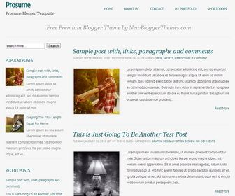 Prosume Responsive Blogger Template | New Blogger Themes | Professional Blogspot Templates