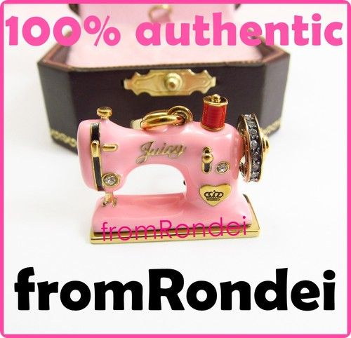 Juicy Couture Pink Sewing Machine Charm YJRUO40 New Juicy Couture Sewing Machine Charm