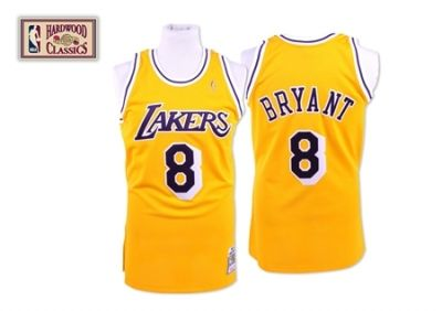 save off 02d90 32618 Kobe Bryant Authentic In Gold Mitchell and Ness NBA Los ...