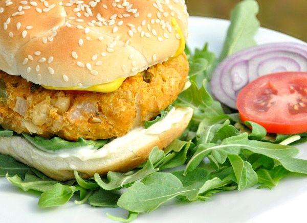Sweet Potato Chickpea Burgers #homemadesweets
