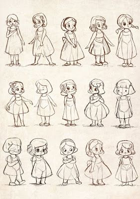 Jing Hua's Art Blog: Little Girl Sketches