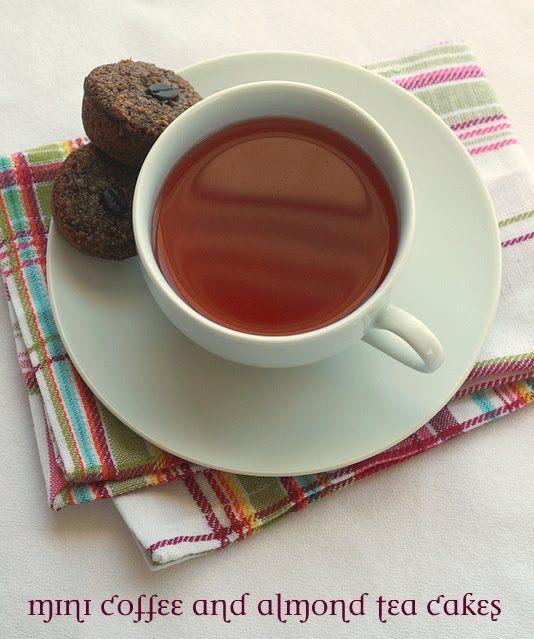 coffee almond teacakes