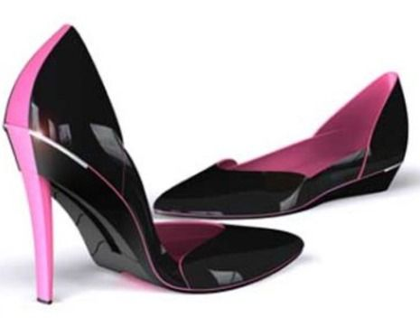 WHAT! A high-heel stiletto shoe that converts into a flat. I've been waiting for someone to invent these!