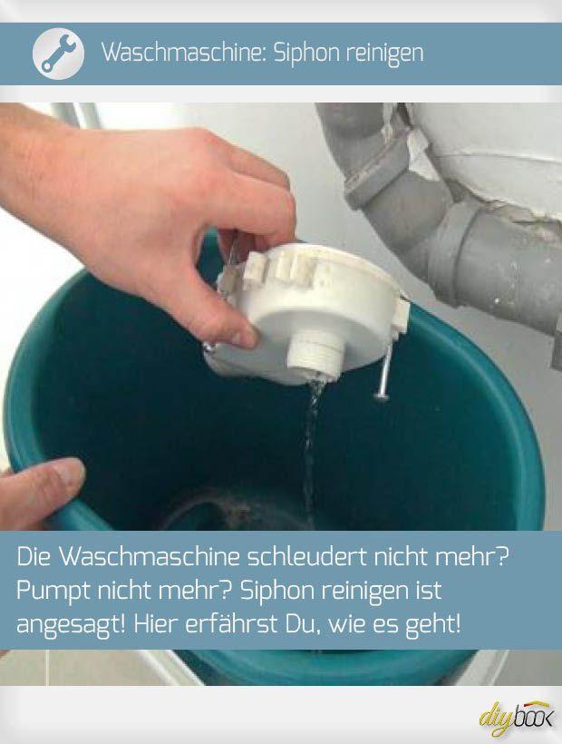 WaschmaschinenSiphon reinigen Waschmaschine, Wäsche und