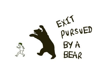exit pursued by a bear Written by e k johnston, narrated by jorjeana marie download the app and start listening to exit, pursued by a bear today - free with a 30 day trial keep your audiobook forever, even if you cancel.