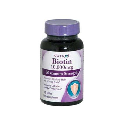 Natrol Biotin 10,000 mcg Maximum Strength Tablets, 100-Count