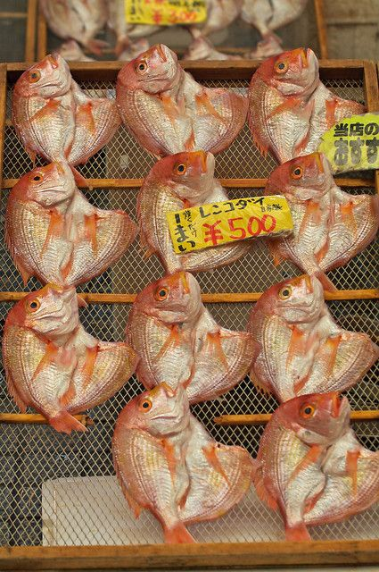 Fish Market in Akashi, Hyogo, Japan 魚の棚商店街