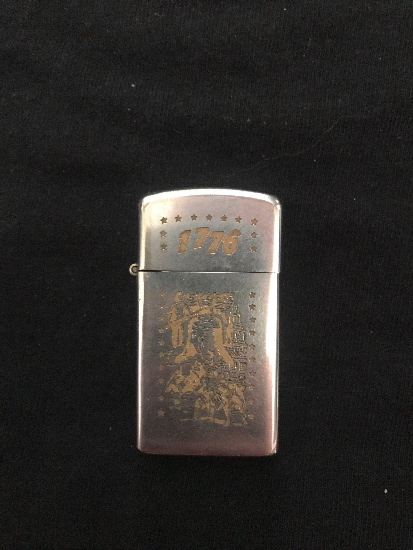 1976 Vintage Zippo Lighter 1976 Bicentennial Theme Slim Zippo Lighter 1976 Theme 1976vintagezippo Bicentennial Slimzippo O Zippo Lighter Zippo Vintage