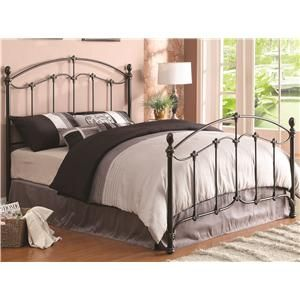 424386c1c34231 Iron Beds and Headboards Yasmine Queen Iron Bed with Acorn Finials ...