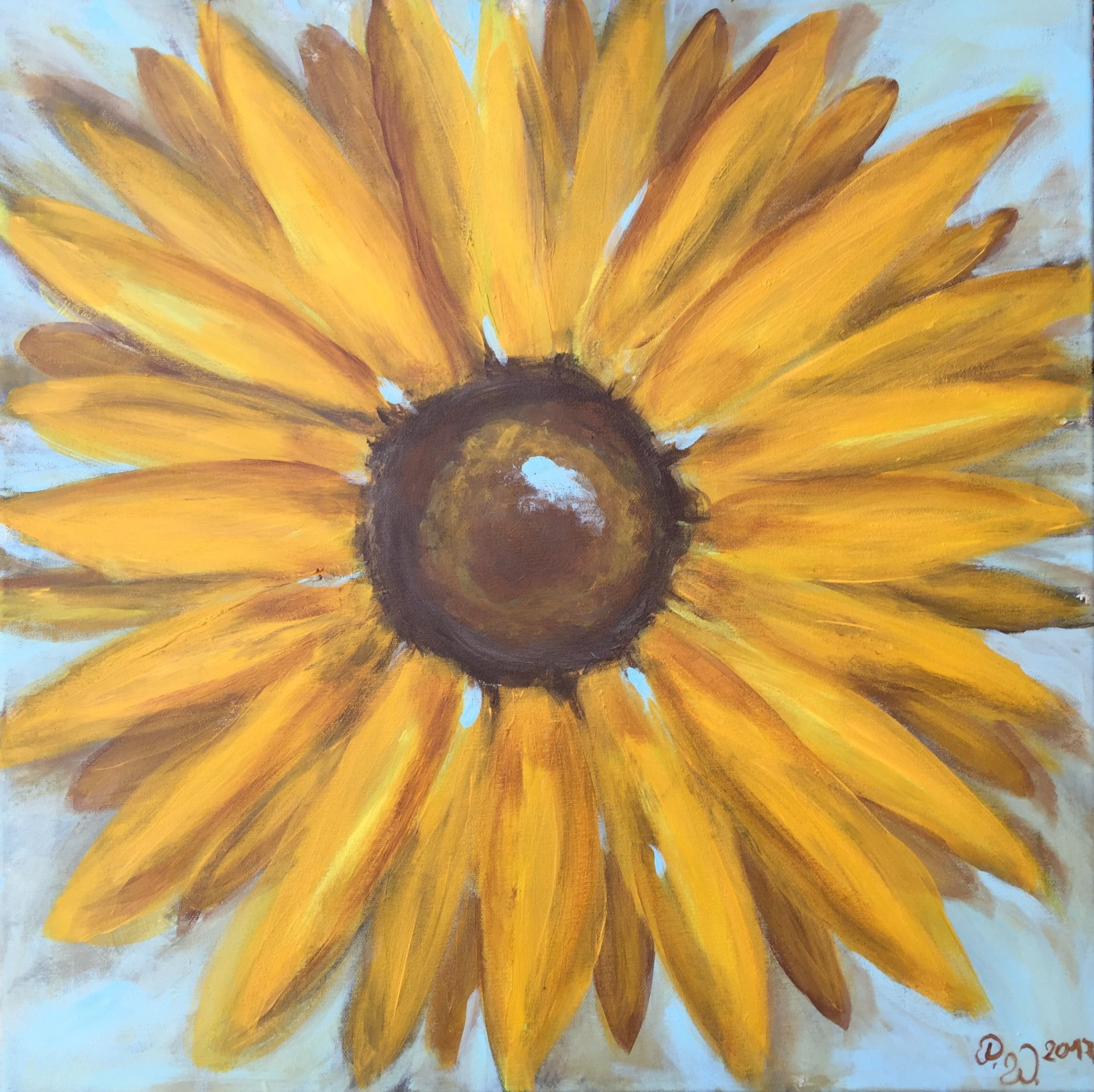 Sonnenblumen In Acryl Painting Inspiration Painting Art