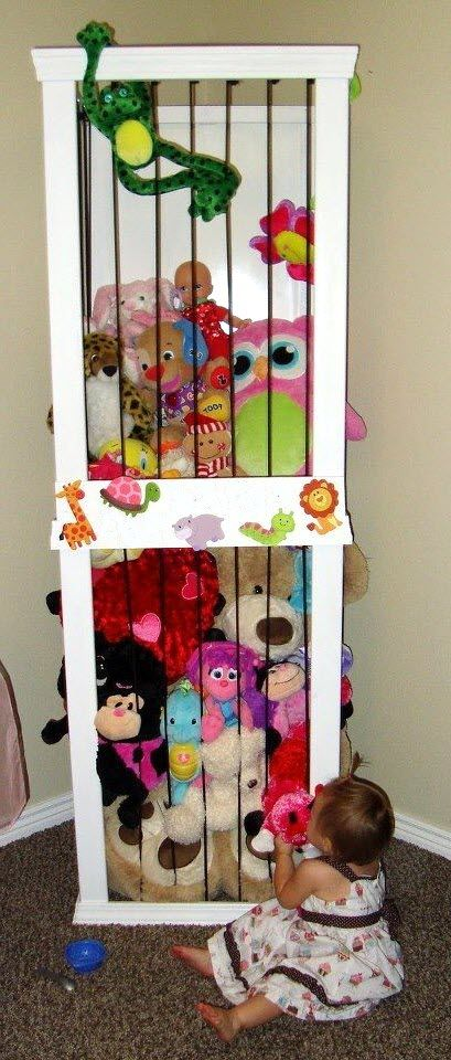 un zoo pour ranger les peluches chambre enfant pinterest peluche ranger et rangement. Black Bedroom Furniture Sets. Home Design Ideas
