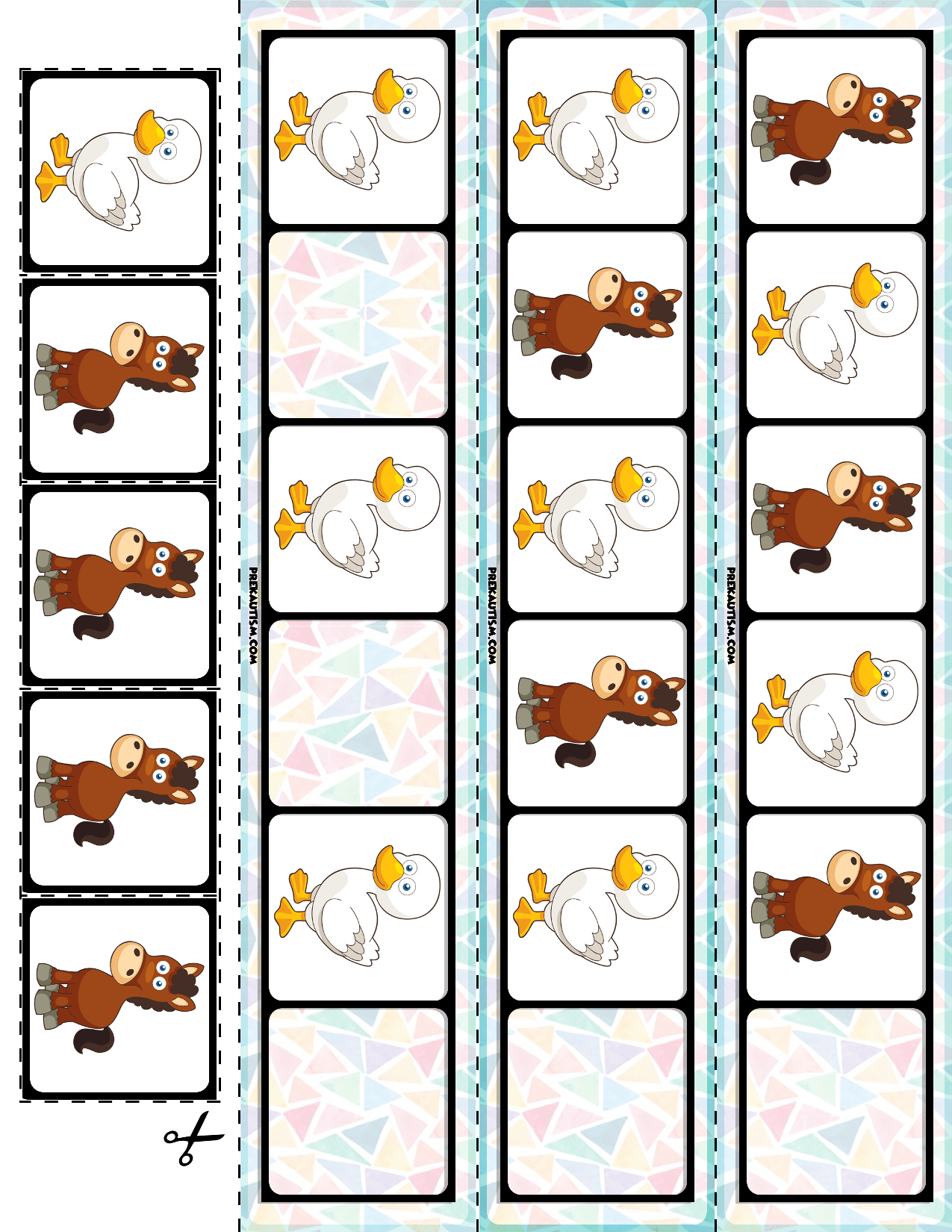 Farm Animals AB Pattern Cards | 30 Cards | My TpT Store