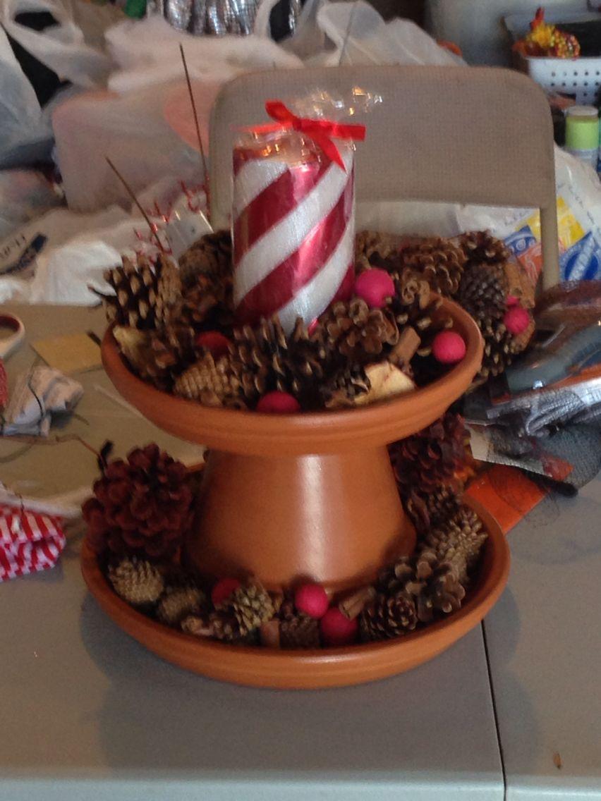 Clay pot center piece Clay pots, Clay, Decor