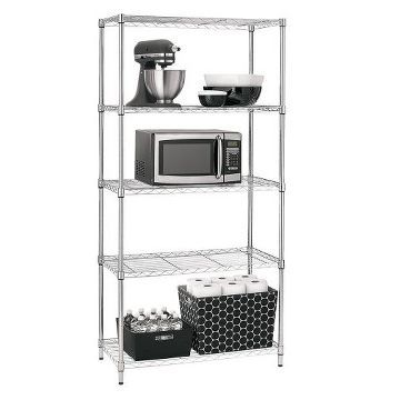 Adjustable 5-Tier Wire Shelving Unit - Chrome - Room Essentials ...