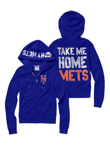 90b3c19a New York Mets Bling Zip Hoodie - Victoria's Secret Pink ...
