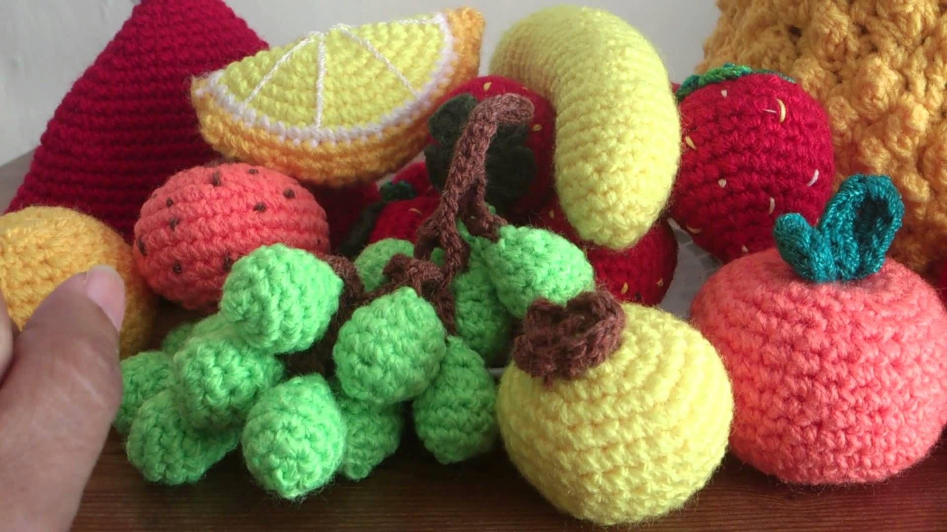 Elaboración de frutas a crochet artículo decorativo y excelente recurso didáctico para los niños. Para un regalo muy especial. Para compras de nuestros produ...