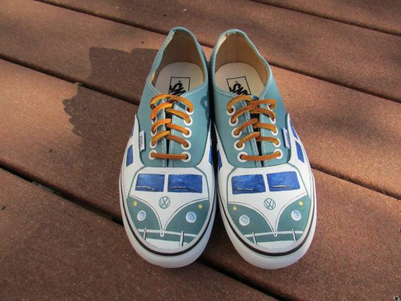 f869dd2939 Custom Painted Volkswagen Bus Vans Women s size 8  Men s size 6.5