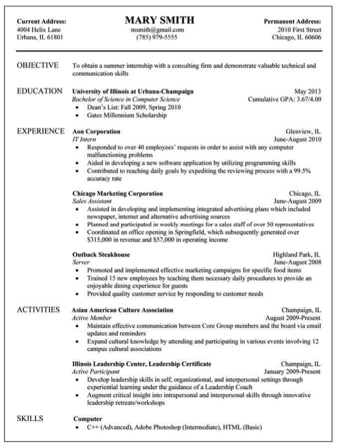 Sample It Aon Corporation Resume Examples Resume Cv