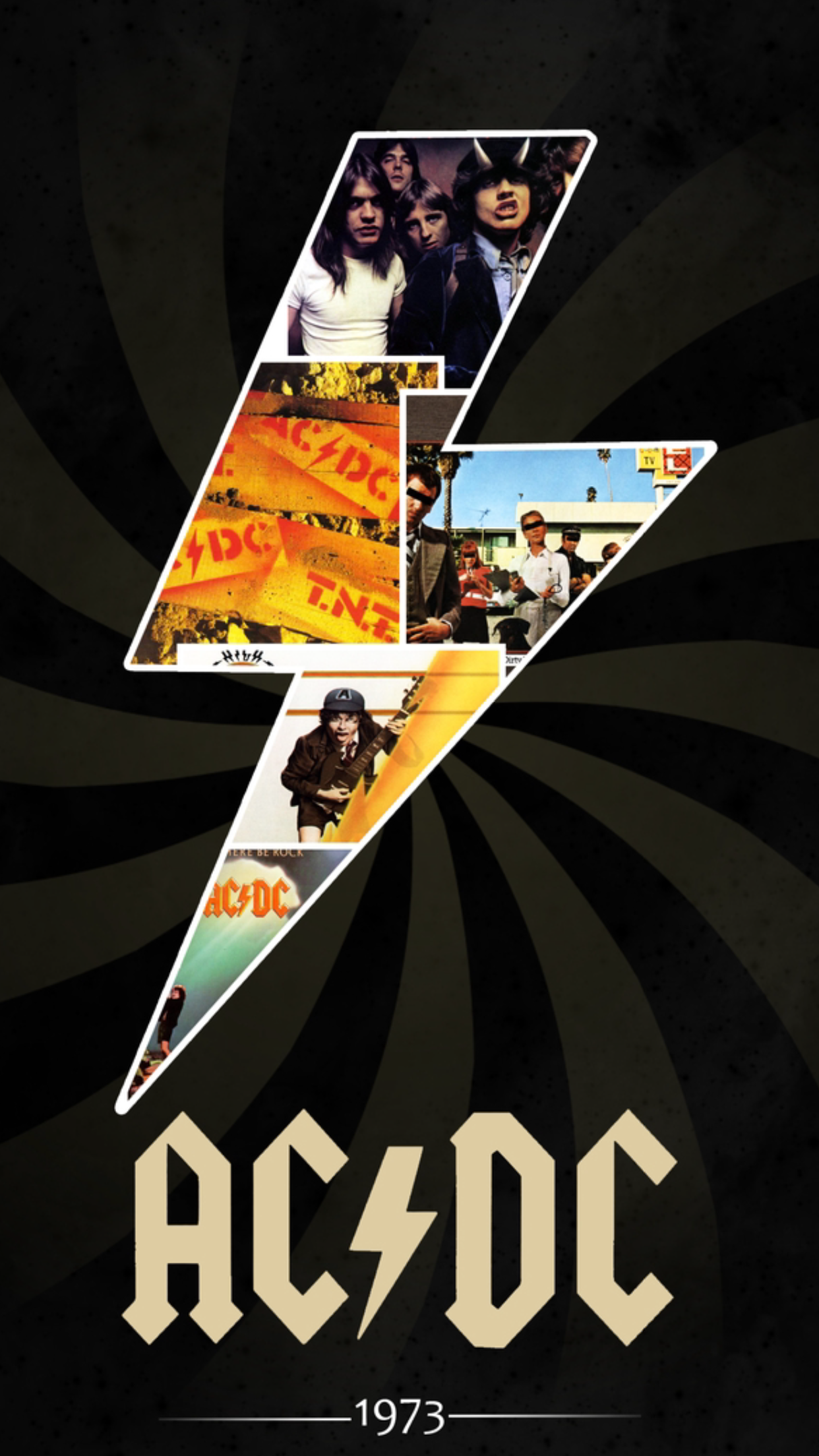 Music Acdc Thunder 3wallpapers Iphone Parallax Acdc Wallpaper Classic Rock Bands Rock Posters