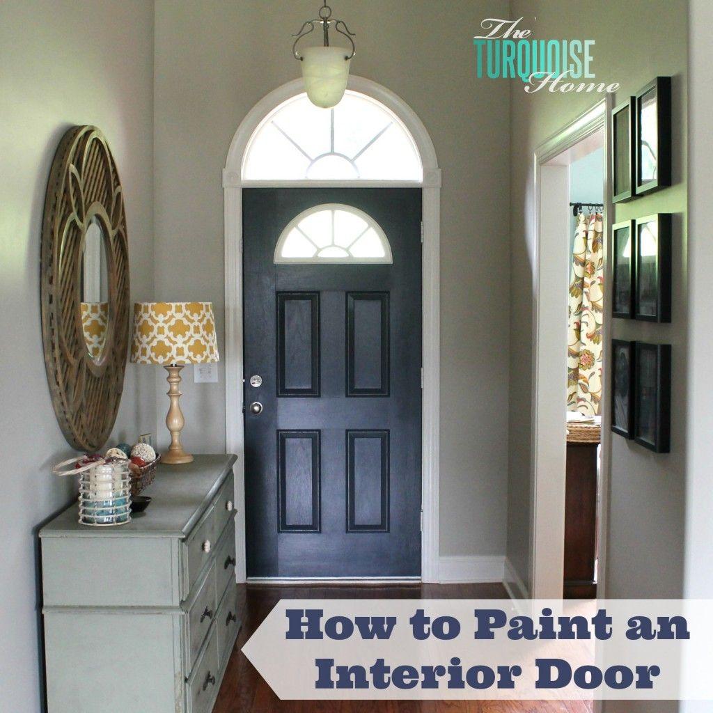 Paint A Front Door: How To Paint An Interior Door: Hale Navy