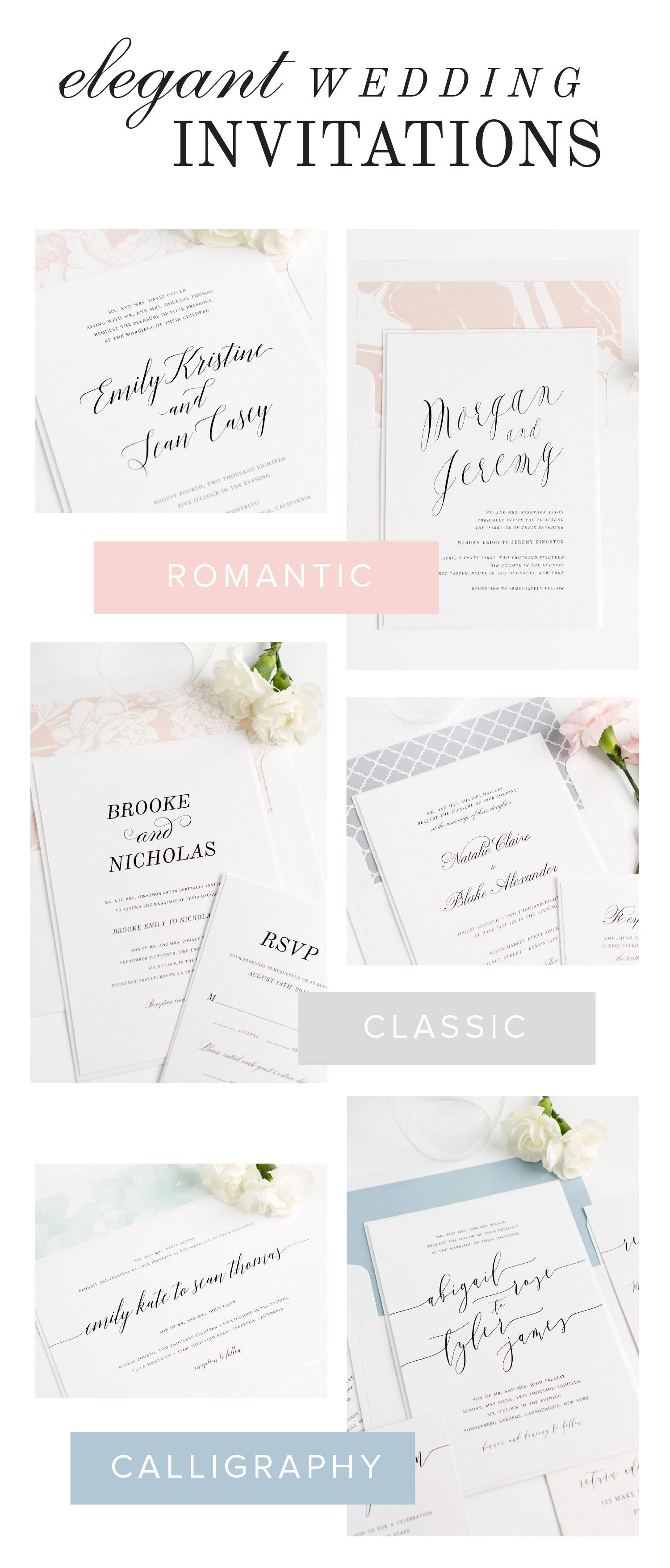 Need wedding invitations? Click to shop over 100 gorgeous designs ...