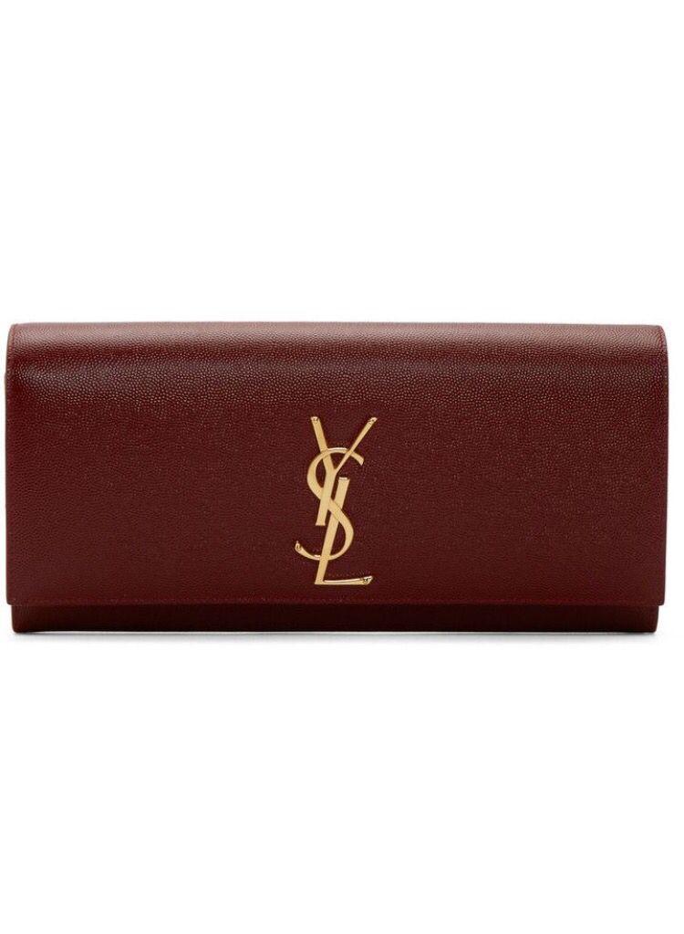 a7ca6c27b492c YSL  clutch  bordeaux  YvesSaintLaurent Rote Kupplung