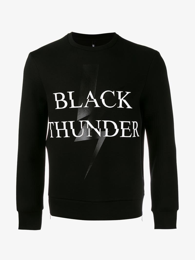 black printed sweatshirt Neil Barrett Online Shop Cheap Sale Outlet Store Online Shop Shop Online a7FZK