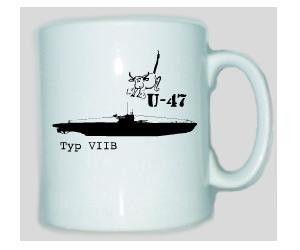 Tasse U-47 Typ VIIB / mehr Infos auf: www.Guntia-Militaria-Shop.de