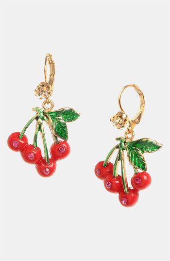 Cherry Drop Earrings