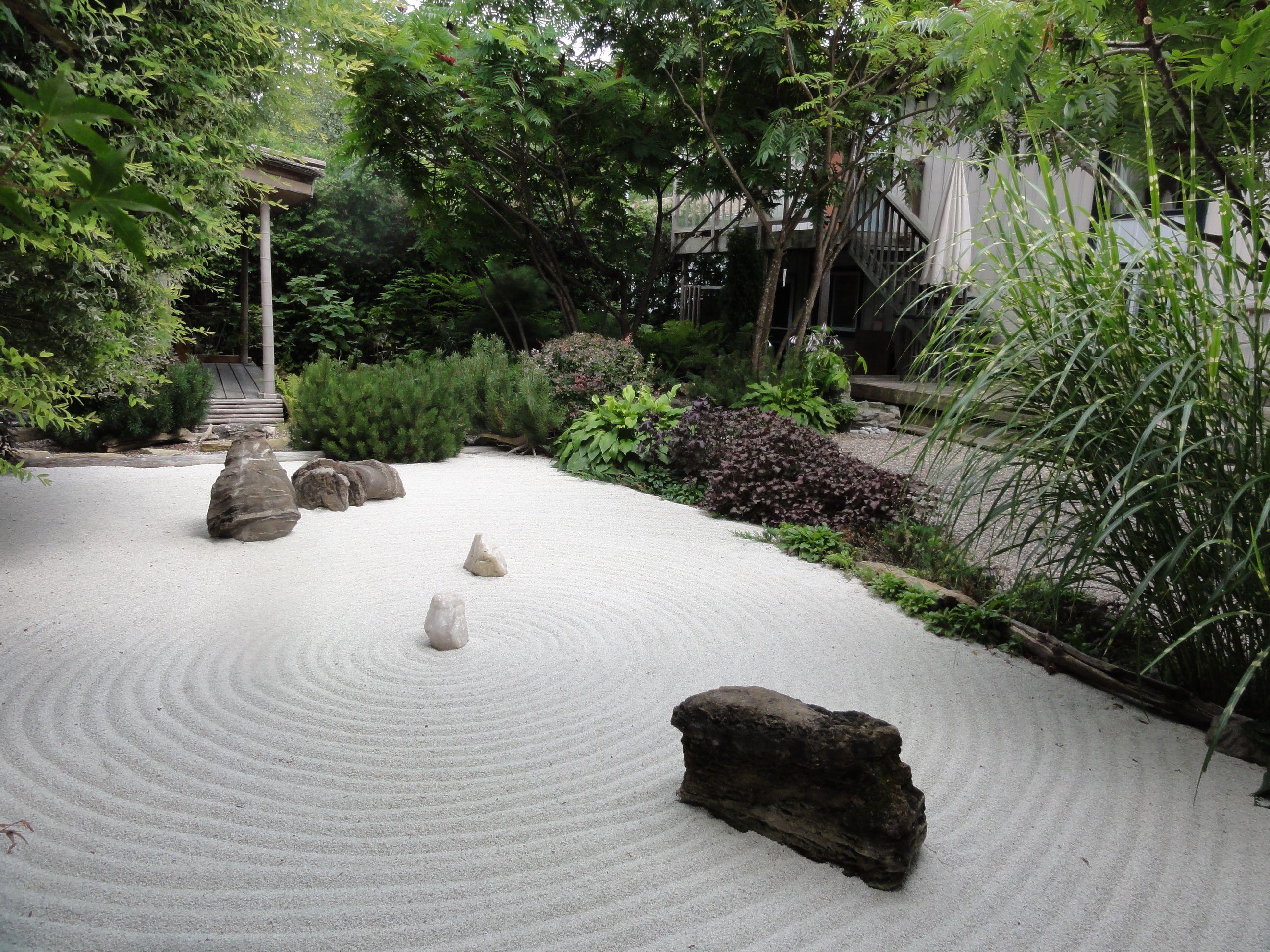 www.camelliateas.net our Zen Garden: 11 tons of stone, high grade ...