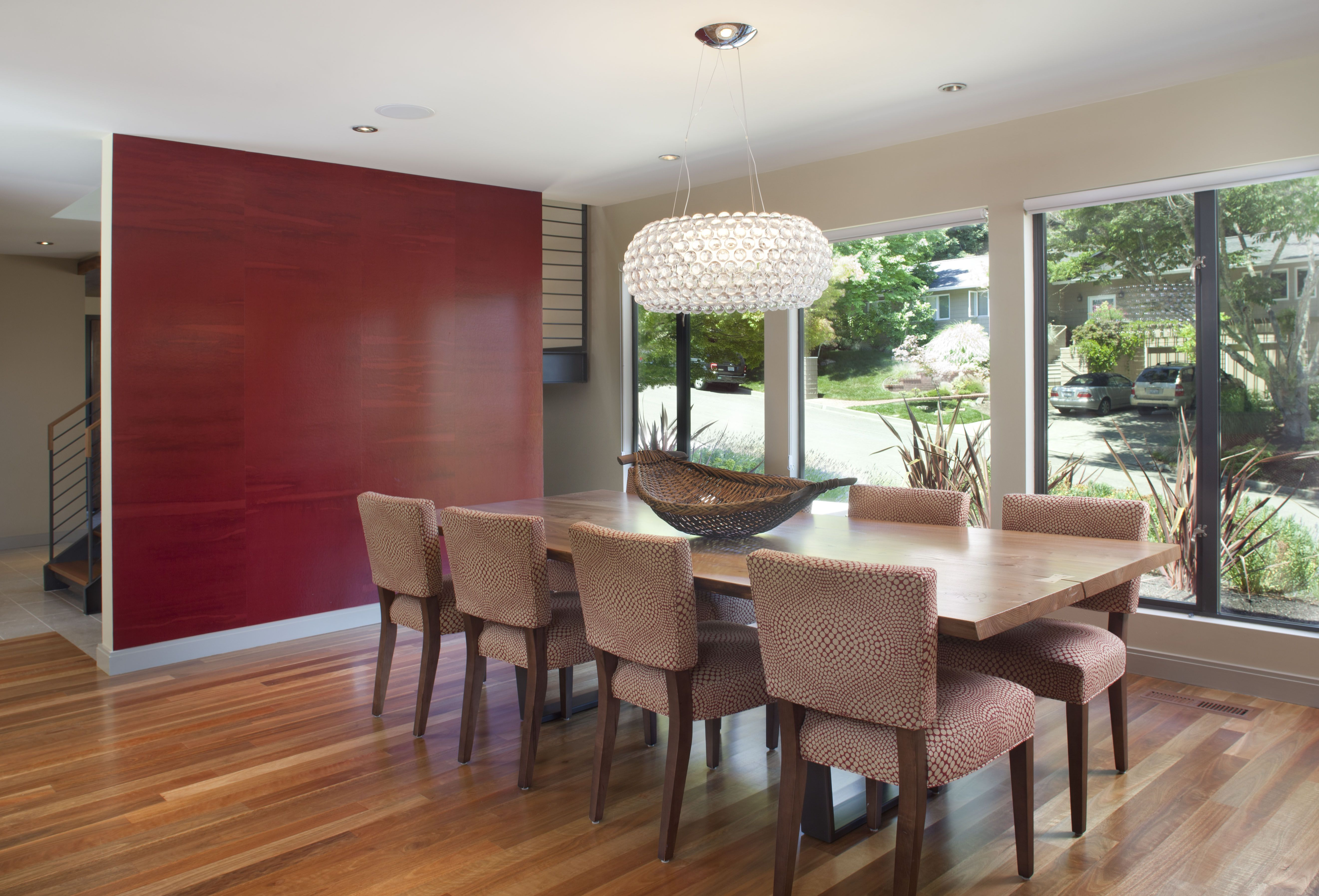 Another Red Accent Wall Idea  Orinda  Contemporary