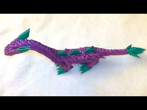 Photo of How to make a paper dragon (dinosaur). 3D origami tutorial