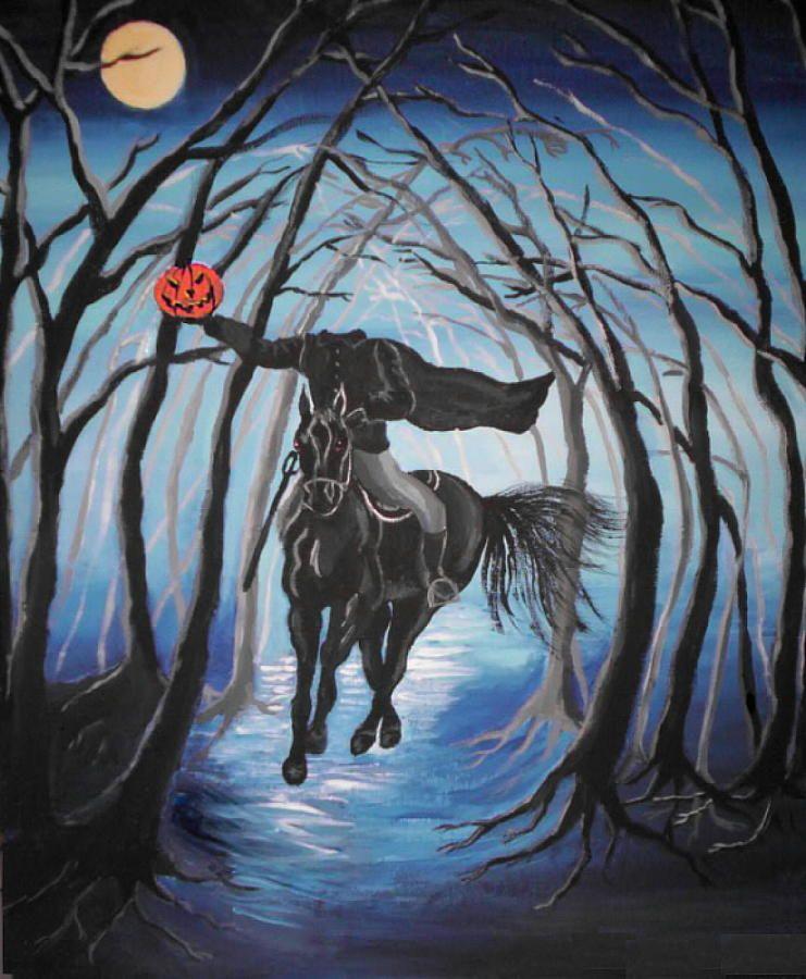 Sleepy Hollow Headless Horseman: Sleepy Hollow Headless Horseman Painting