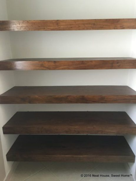Awesome DIY Wood Covers For Wire Shelving