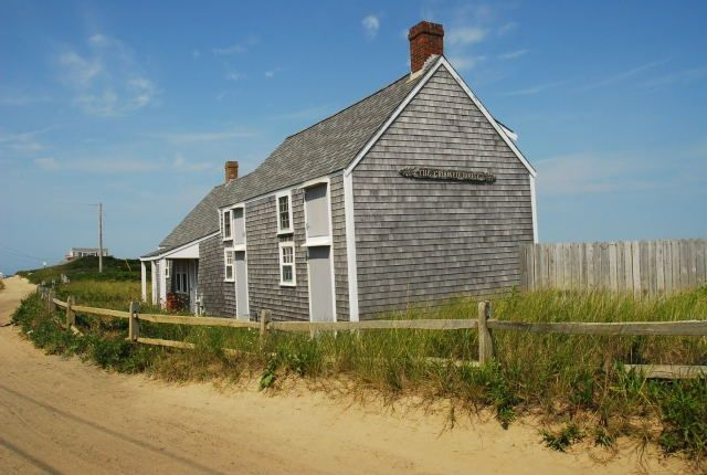 Nantucket Island Ma It S A Beautiful Day In The Neighborhood This Is Mr Roger S House In Madaket Nantucket Island Nantucket Crooked House