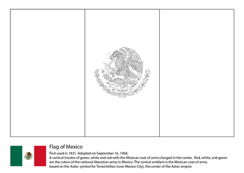 Mexico Flag Coloring Page Free Printable Coloring Pages Flag Coloring Pages Mexican Flags Flag Printable