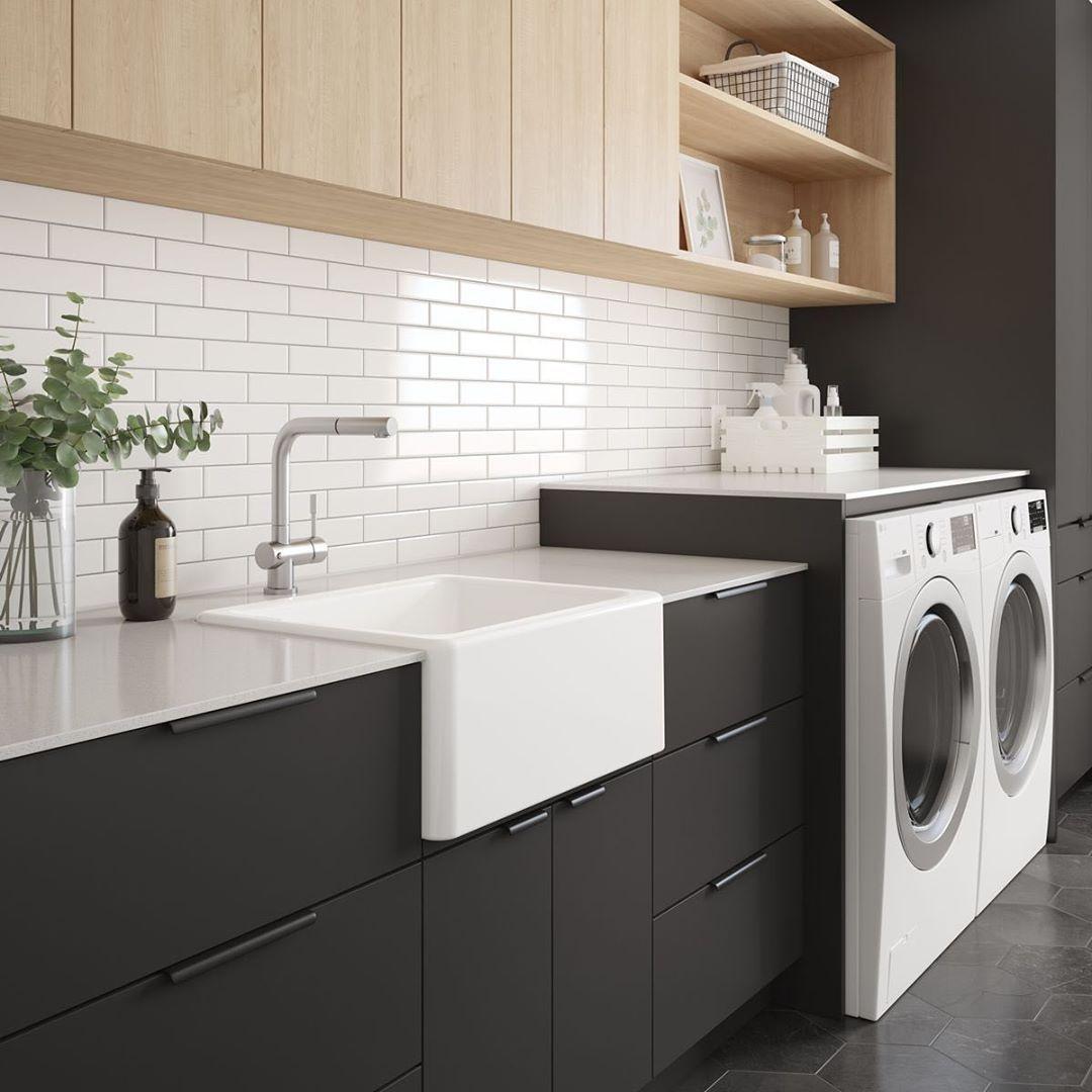 """LA PIÈCE on Instagram: """"Salle de lavage moderne minimaliste Évier en argile réfractaire Collection ProTerra M125 par @prochef_julien"""""""