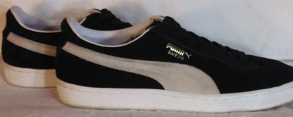 6e3e6add7d71 PUMA SUEDE CLASSIC ECO TEAM BLACK WHITE GOLD MNS RETRO SNKRS 352634-03 SZ 9  1 2  fashion  clothing  shoes  accessories  mensshoes  athleticshoes (ebay  link)