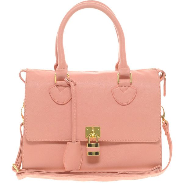 5f0a958f9360 Asos Front Padlock Bowler Bag ( 62) ❤ liked on Polyvore