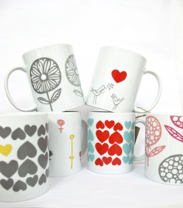 How To Put Ceramic Transfers Onto Mugs, From Skinny Laminx