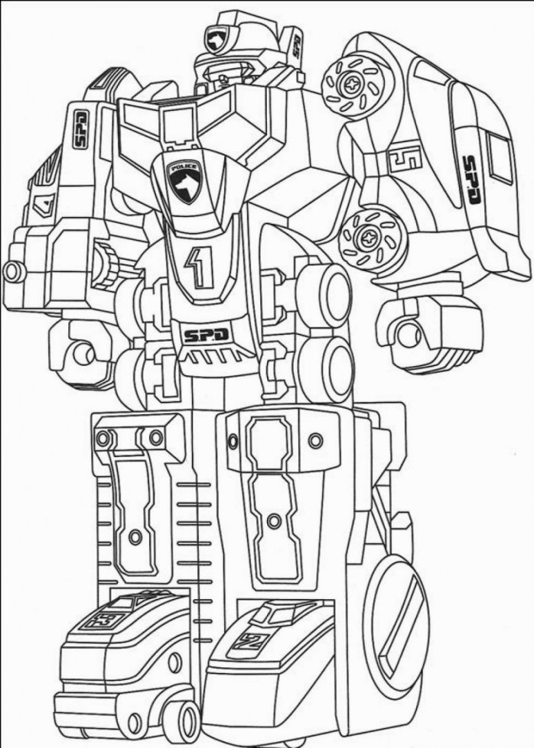 Robot Coloring Page