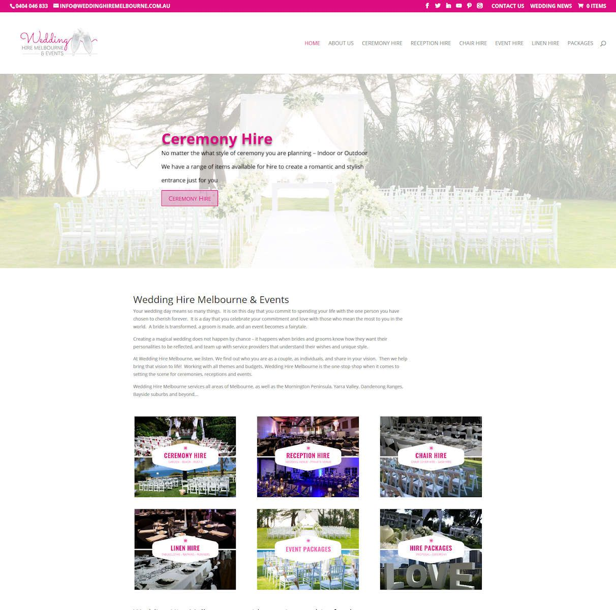 Latest Website Wedding Hire Melbourne Wedding hire