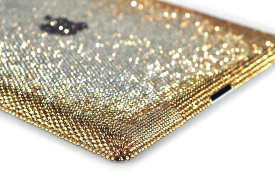 Gold crystal ipad cover...