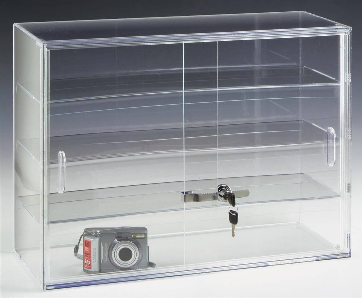office display cases. Acrylic Countertop Display Case W/ 3 Shelves \u0026 Sliding, Locking Doors Office Cases